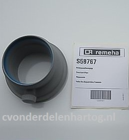 Remeha flue gas discharge pipe s58767