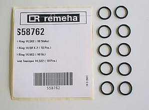 Remeha O-ring 14,5x2mm 10 stuks S58762