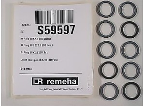 Remeha O-ring 18x2,8mm 10 stuks s59597